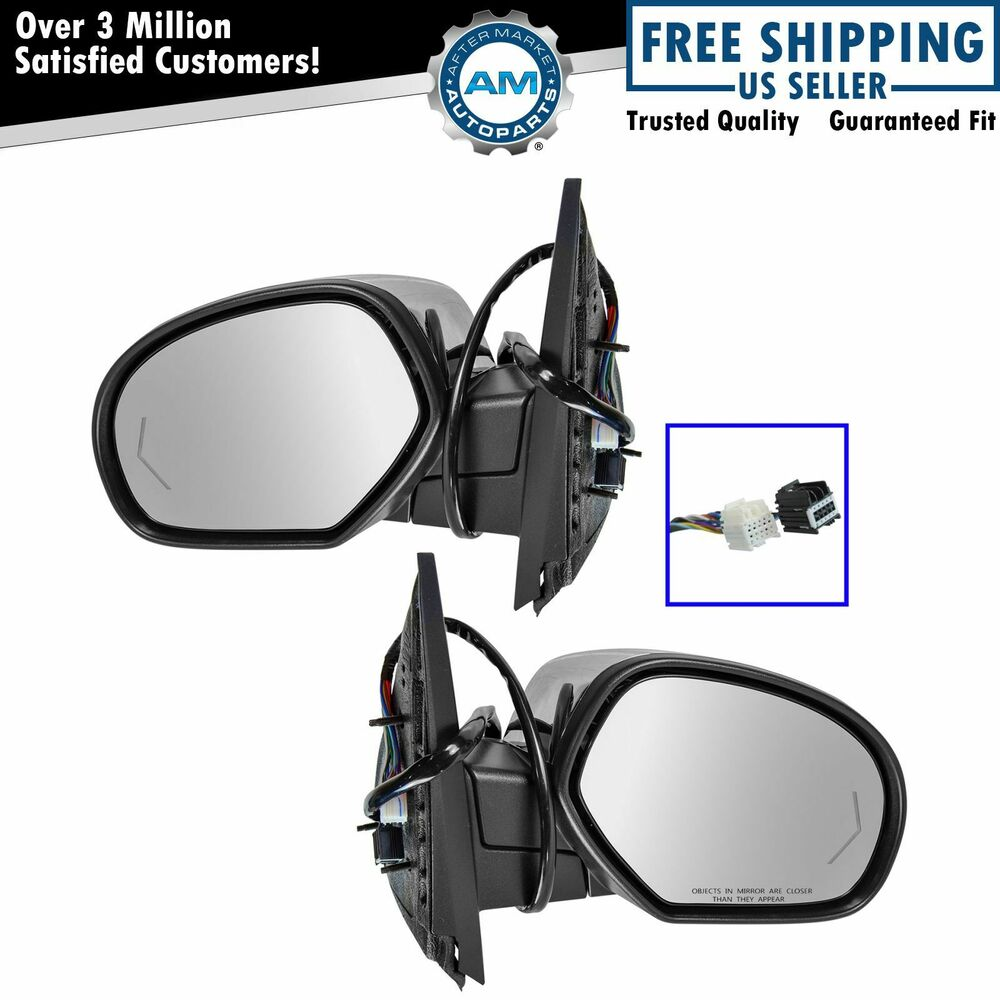 Mirror Power Folding Heated 11 Dot Led Turn Signal Pair Set Of 2 For Gm 2000 Wiring Harness Rear View New 192659040954 Ebay