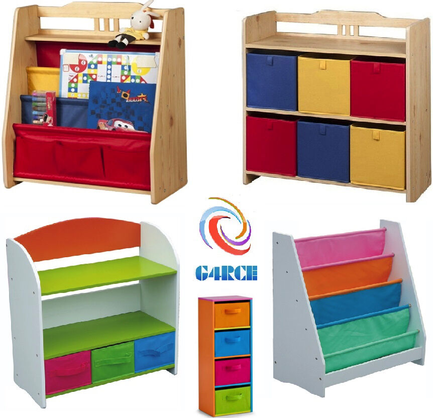 Kids Bedroom Furniture Kids Wooden Toys Online: Childrens/Kids Wooden Bookcase Rack Storage Book-Shelf