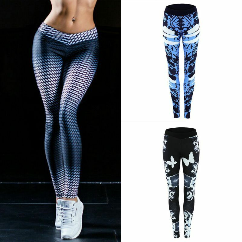 Women Sports High Waist Yoga Fitness Leggings Running Gym ...