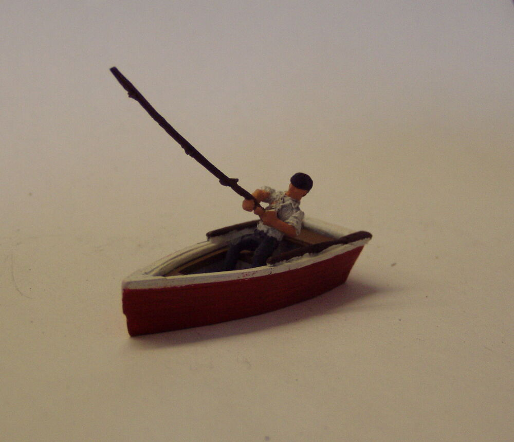 P d marsh oo gauge z33 man fishing from row boat painted for Fishing row boats