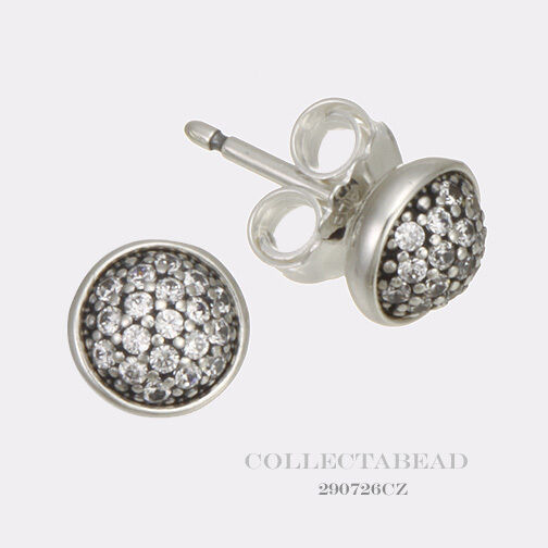 Authentic Pandora Silver Dazzling Droplets Clear CZ Stud