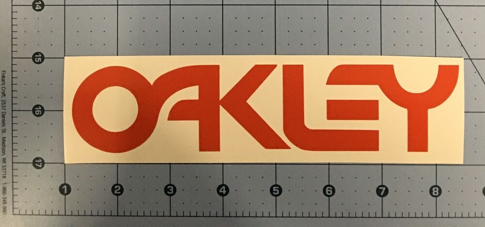 Oakley Logo Red Decal Sticker Ski Snowboard Goggles Retro ...