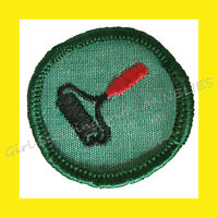 1960-62 PRINTS Intermediate Girl Scout Badge Patch RARE Ink Roller Combine Ship