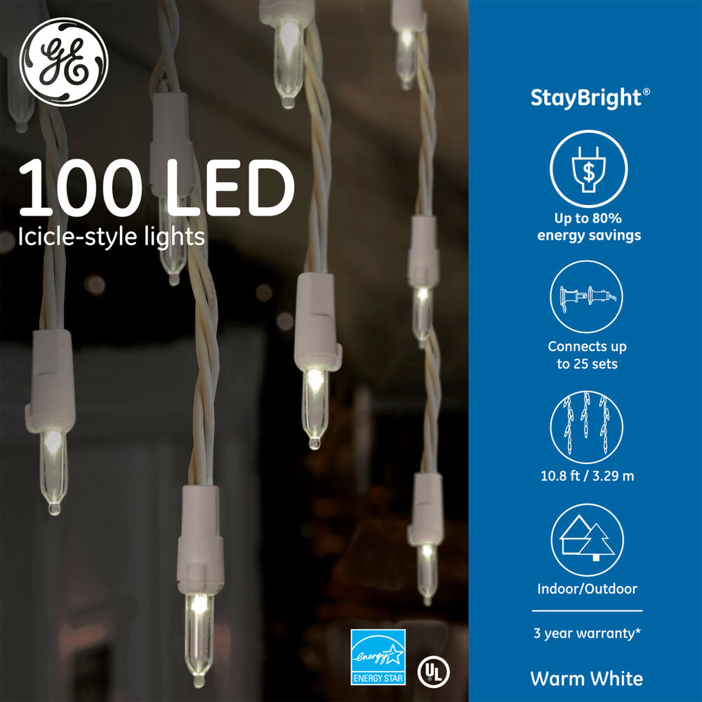 GE StayBright 100-Count Constant Warm White Mini LED ...