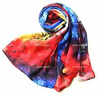 Brond New 100% Silk colorful Oblong scarf/shawl/belt/wraps