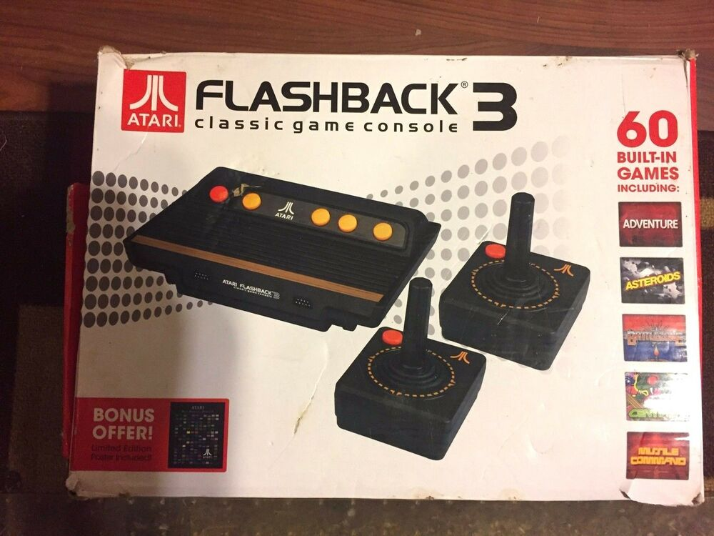 Atari flashback 3 classic game console with 60 built in games ebay - Atari flashback 3 classic game console ...