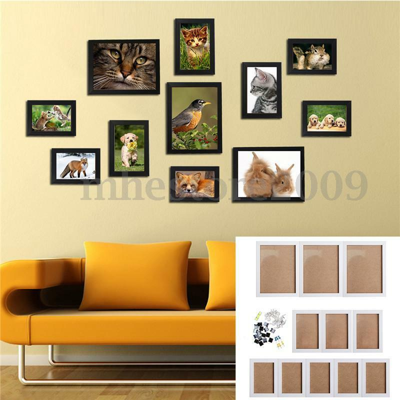 11pcs wall hanging photo frame set family picture display for Home decorations on ebay