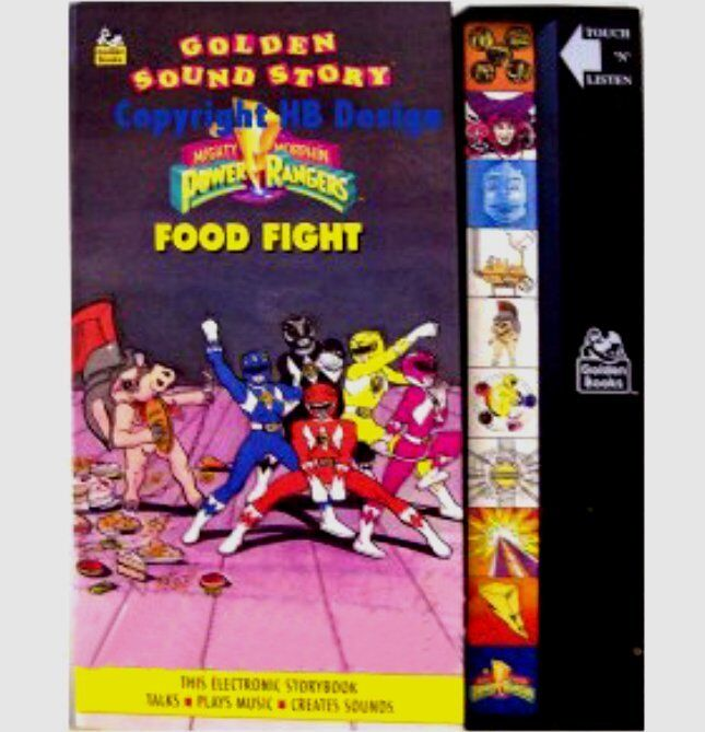 Mighty Morphin Power Rangers Food Fight Golden Sound