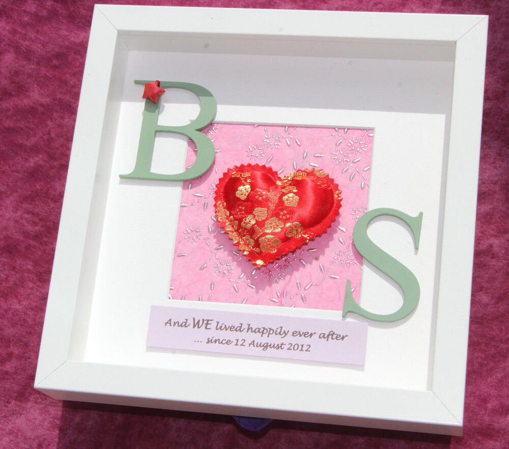 ... traditional 4th or 12th silk wedding anniversary gift frame eBay