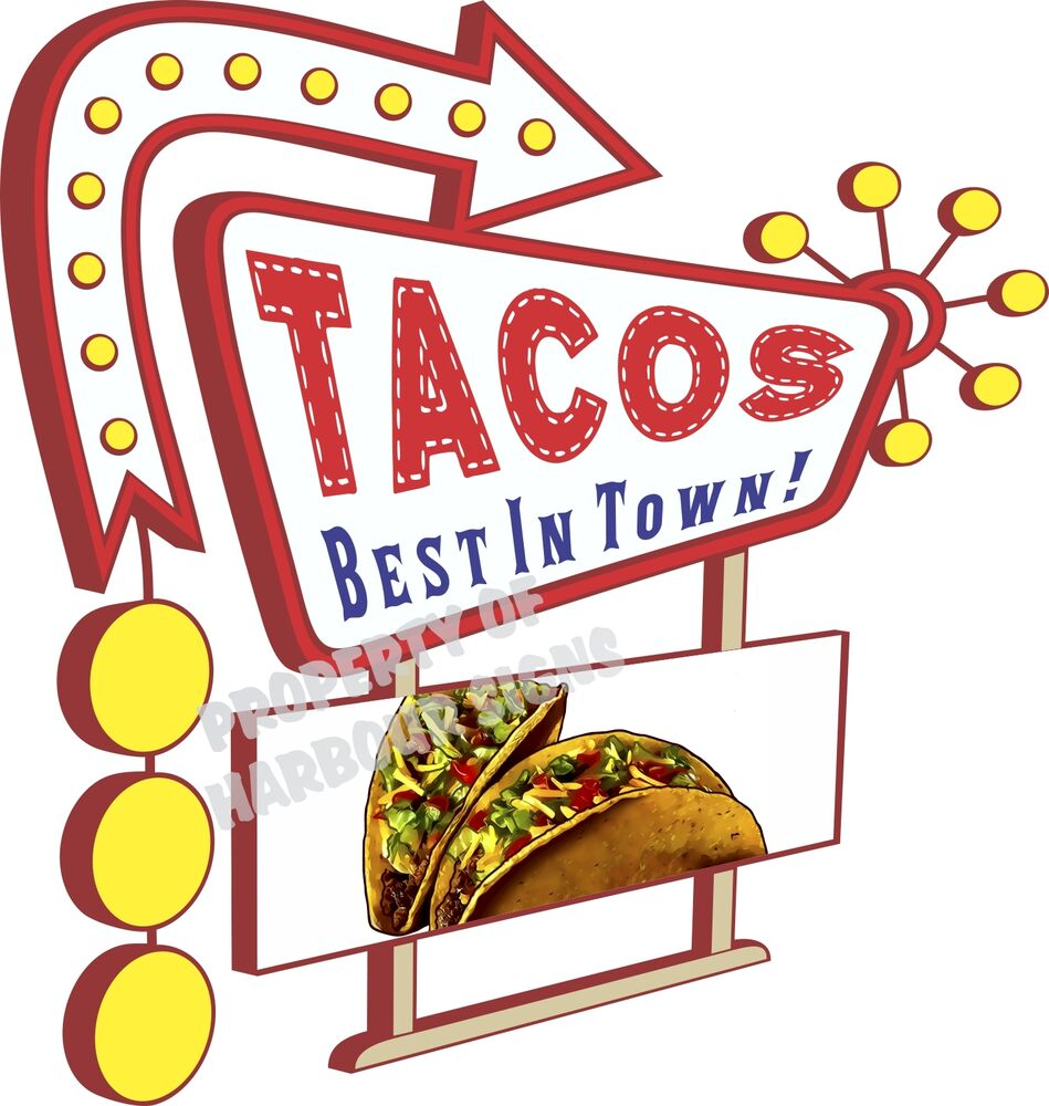 Tacos Decal 14 Quot Taco Mexican Restaurant Concession Food