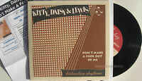"""KITTY DAISY & LEWIS 7"""" Don't Make A Fool Out Of Me + PROMO Info Sheet NEW 2011"""