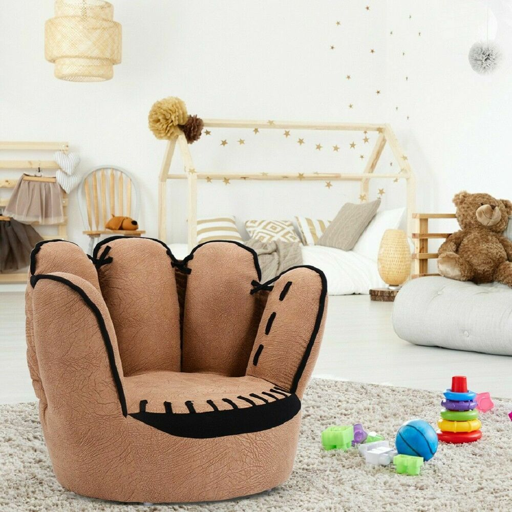 kids sofa five finger armrest chair couch children living room toddler gift 783883122761 ebay - Toddler Sofa