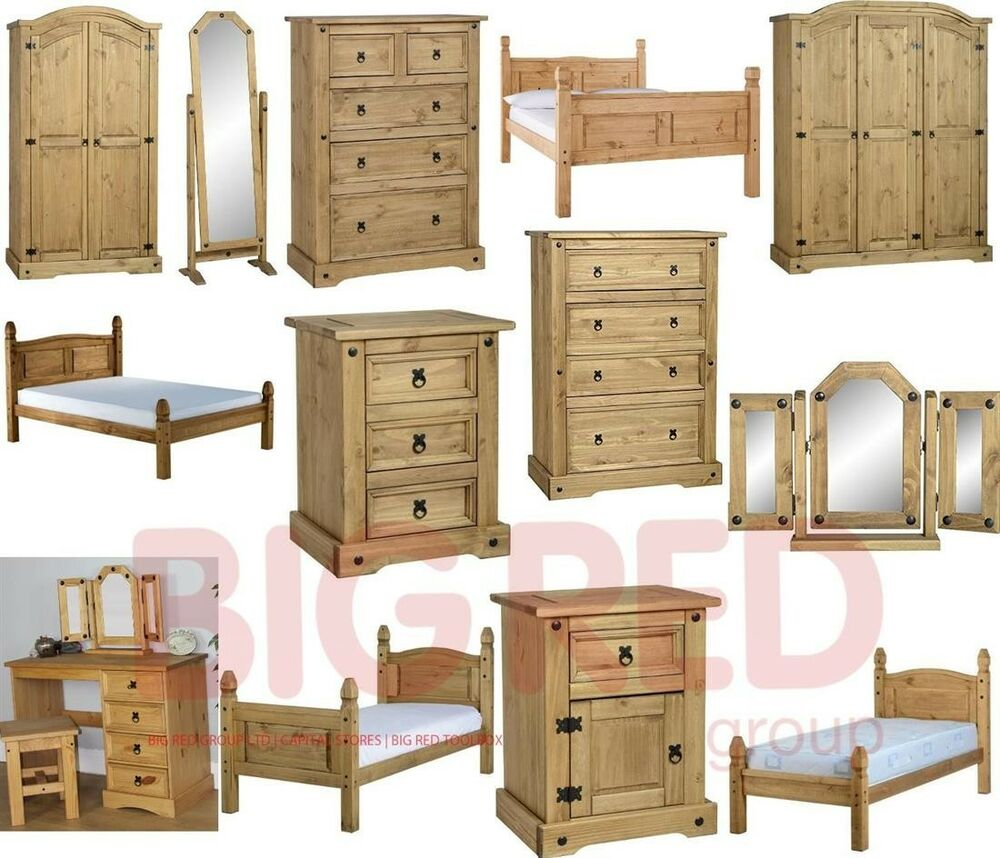 mexican light fiesta style solid waxed pine bedroom furniture ebay