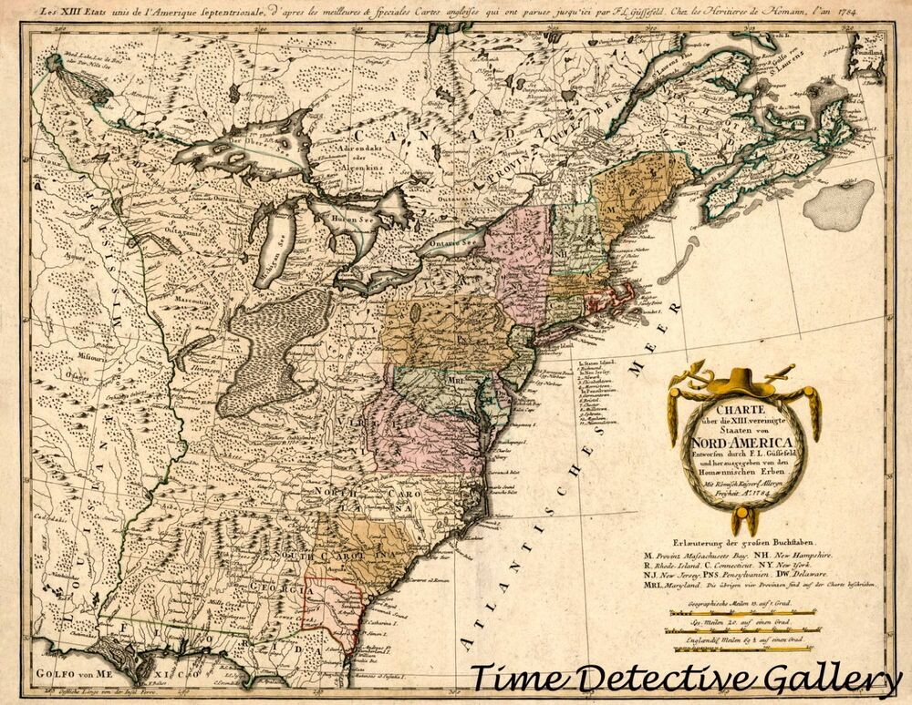 Colonial Era Map Of The Eastern United States 1784 Poster In 5