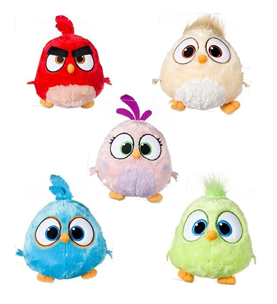 New official 8 angry bird hatchlings angry birds the movie plush soft toys ebay - Angry birds toys ebay ...
