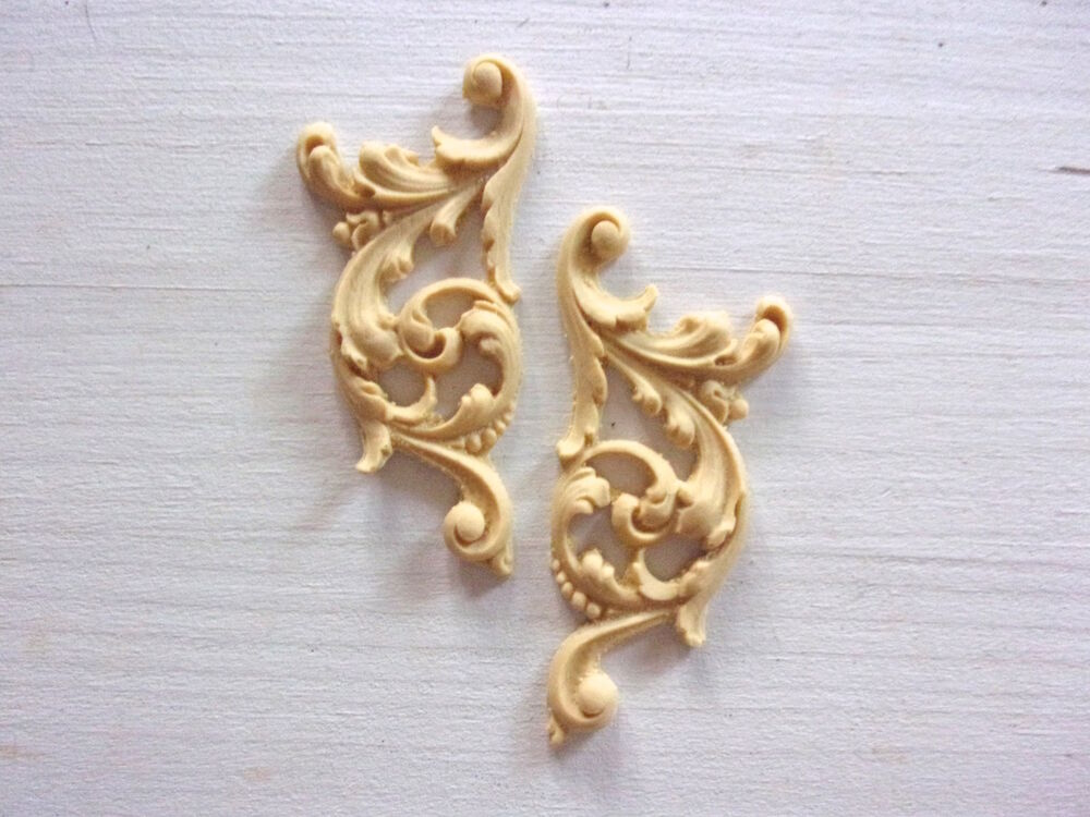 Furniture Appliques Onlays Resin Wood Mouldings Flexible Paintable Stainable Ebay