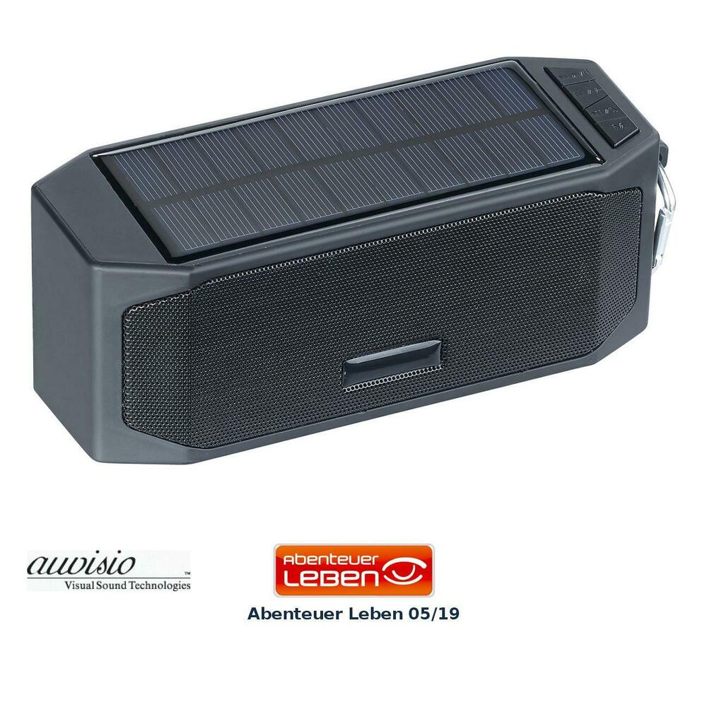 box solar lautsprecher mit bluetooth 3 0 freisprecher powerbank 12 watt ebay. Black Bedroom Furniture Sets. Home Design Ideas