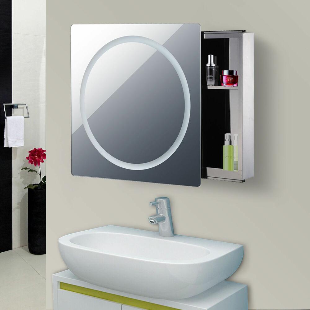 28 Quot Led Wall Mounted Sliding Bathroom Mirror Medical