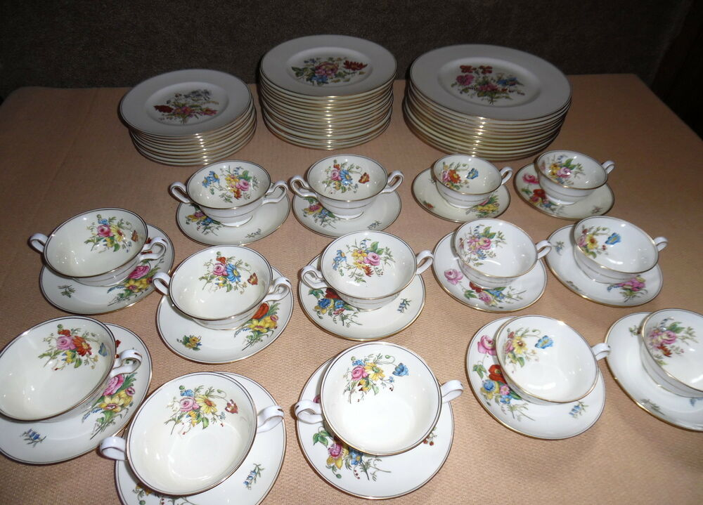 wedgwood bone china dinner set posey sprays w3043 ebay