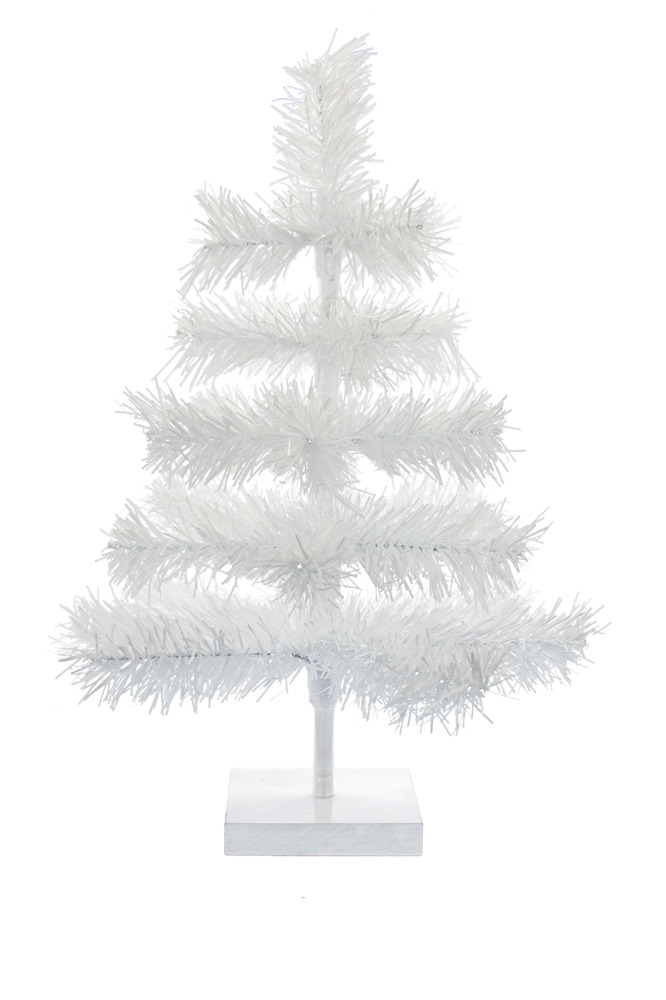 24 39 39 white christmas feather tinsel tree tabletop holiday for Designer white christmas tree