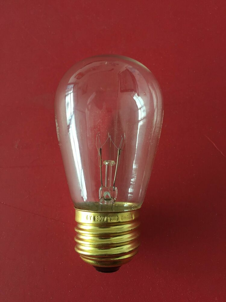 15 Replacement Bulbs Vintage Patio Edison Lights Clear 11
