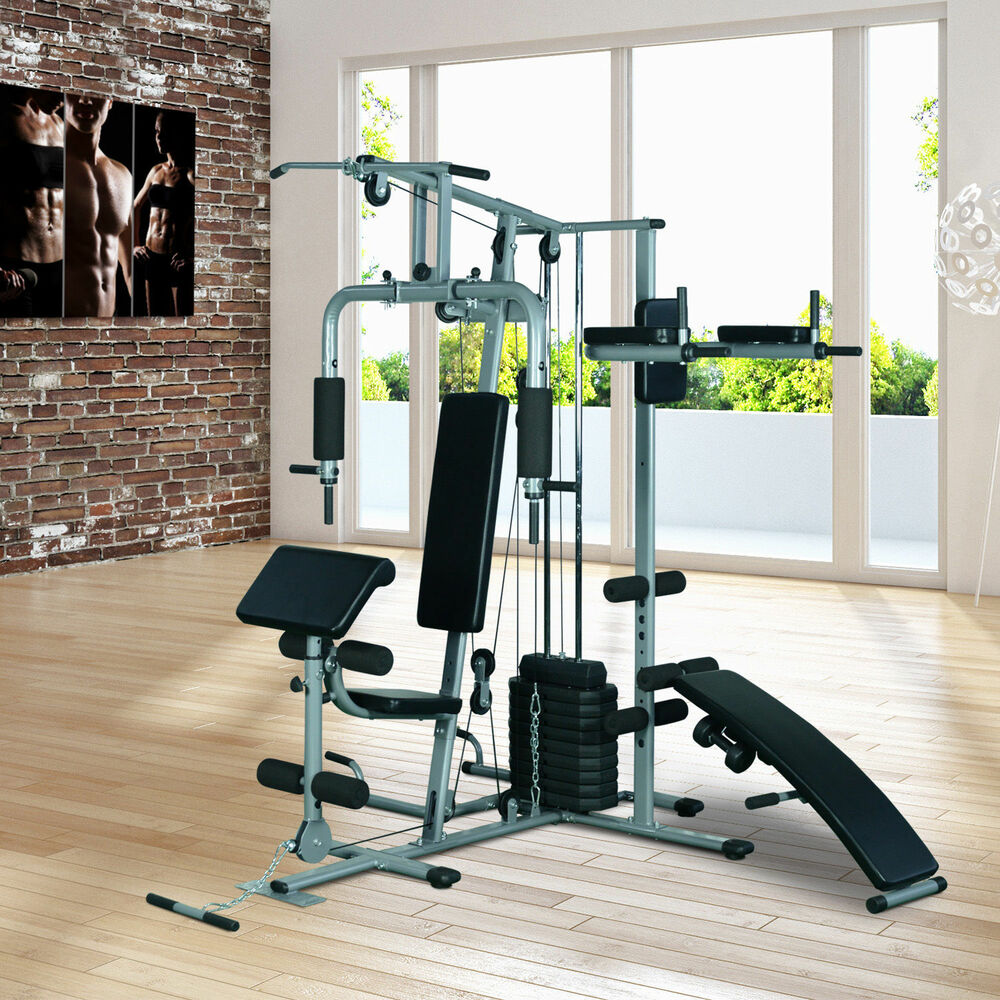 Soozier Deluxe Home Gym Fitness Exercise Machine Weight ...