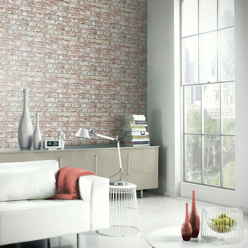 Cornish Stone Effect Wallpaper From B Q: Arthouse Rustic Brick Pattern Stone Wall Effect Wallpaper