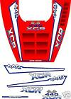 1992 POLARIS INDY XCR 440 HOOD DECALS graphics shroud