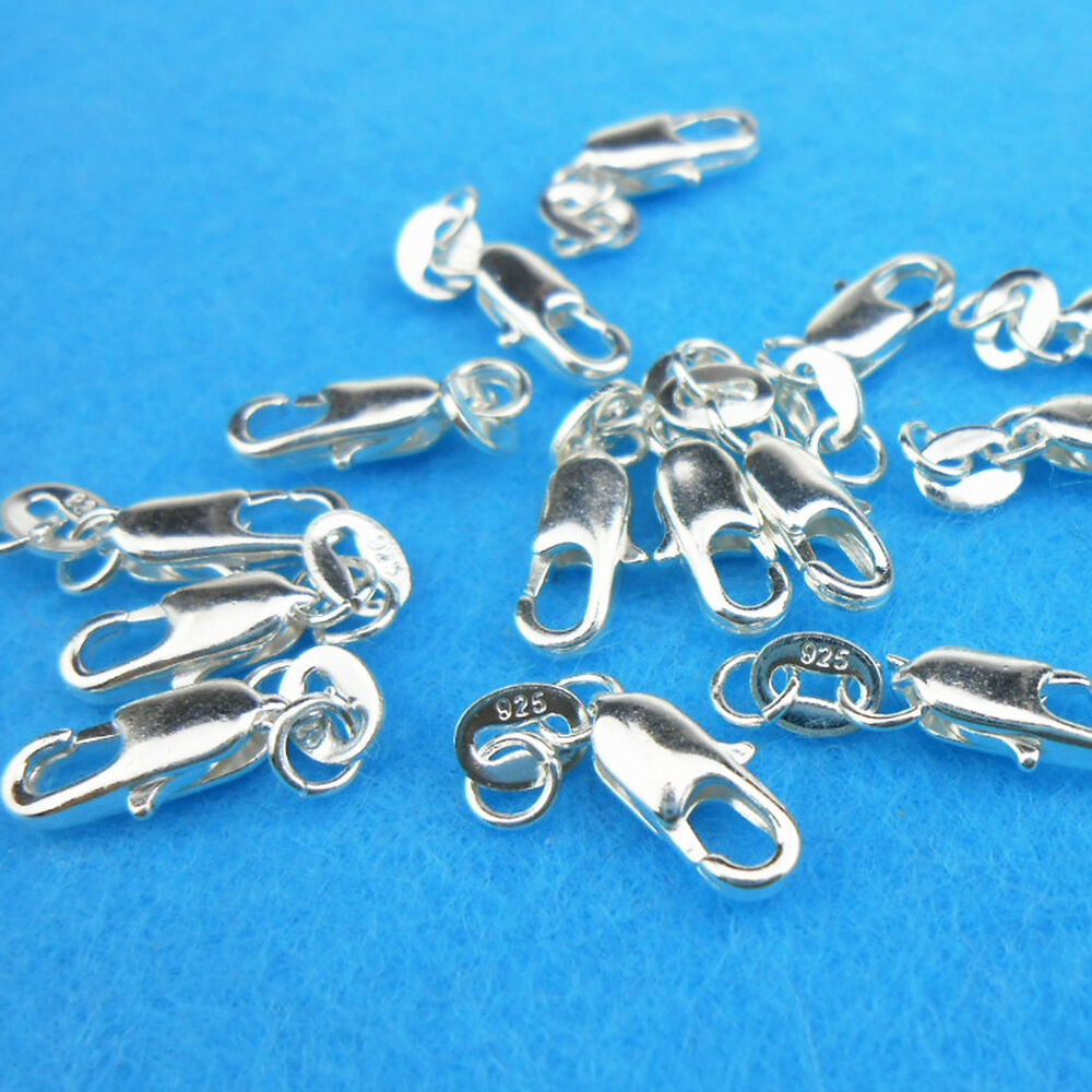 Wholesale 10PCS Connector 925 Sterling silver Lobster Clasps Necklace Pendants | eBay
