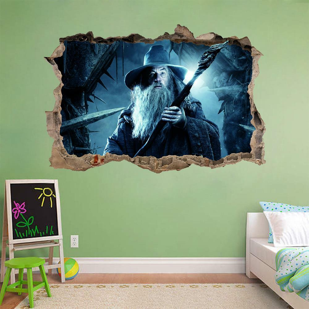Gandalf Lord Of The Rings Hobbit Smashed Wall Decal Wall