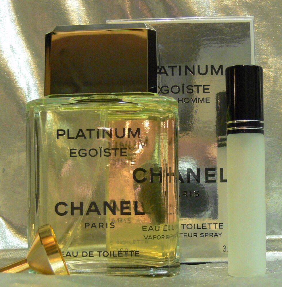 CHANEL PLATINUM EGOISTE TRAVEL SIZE EAU DE TOILETTE 0.33 FL. OZ. 10 ML | eBay