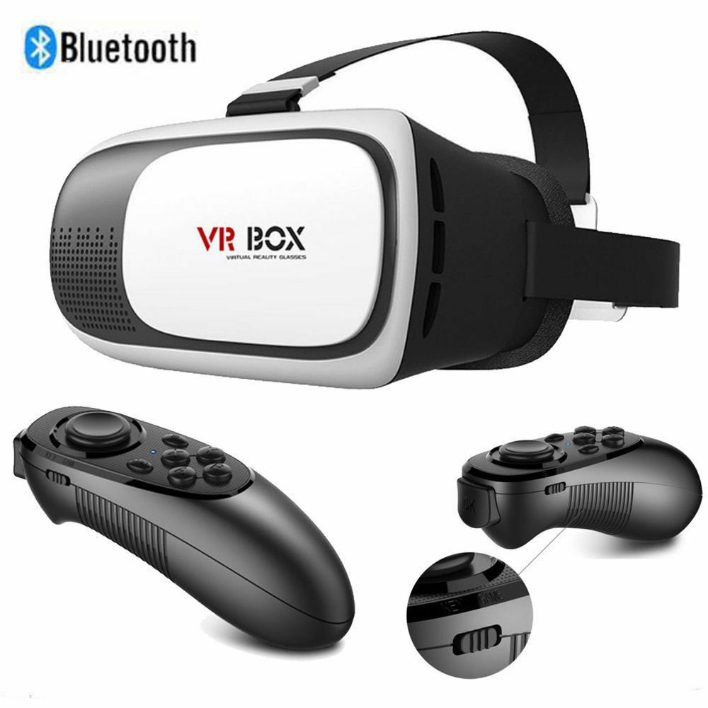 vr box virtual reality 3d brillen games bluetooth remote control fernbedienung ebay. Black Bedroom Furniture Sets. Home Design Ideas