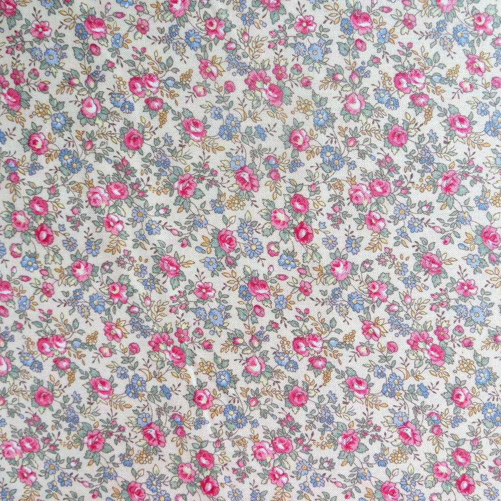 1 2 yard cotton quilting sewing fabric cottage calico for Cotton quilting fabric