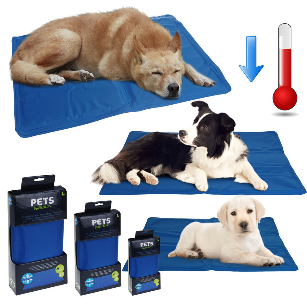 Pet Dog Cooling Mat Pad Cat Puppy Cool Gel Self Bed Non