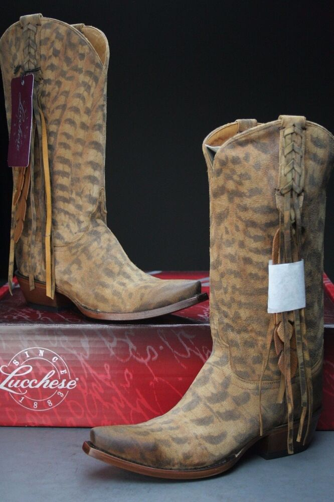 lucchese m5105 s54 womens suede western cowboy boots