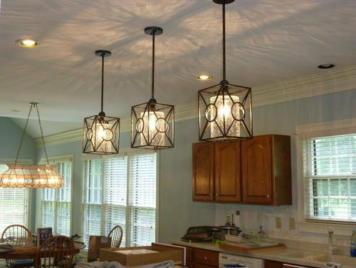 1 French Farmhouse Rustic Black Pendant Light Fixture Kitchen Island Tuscan Ebay