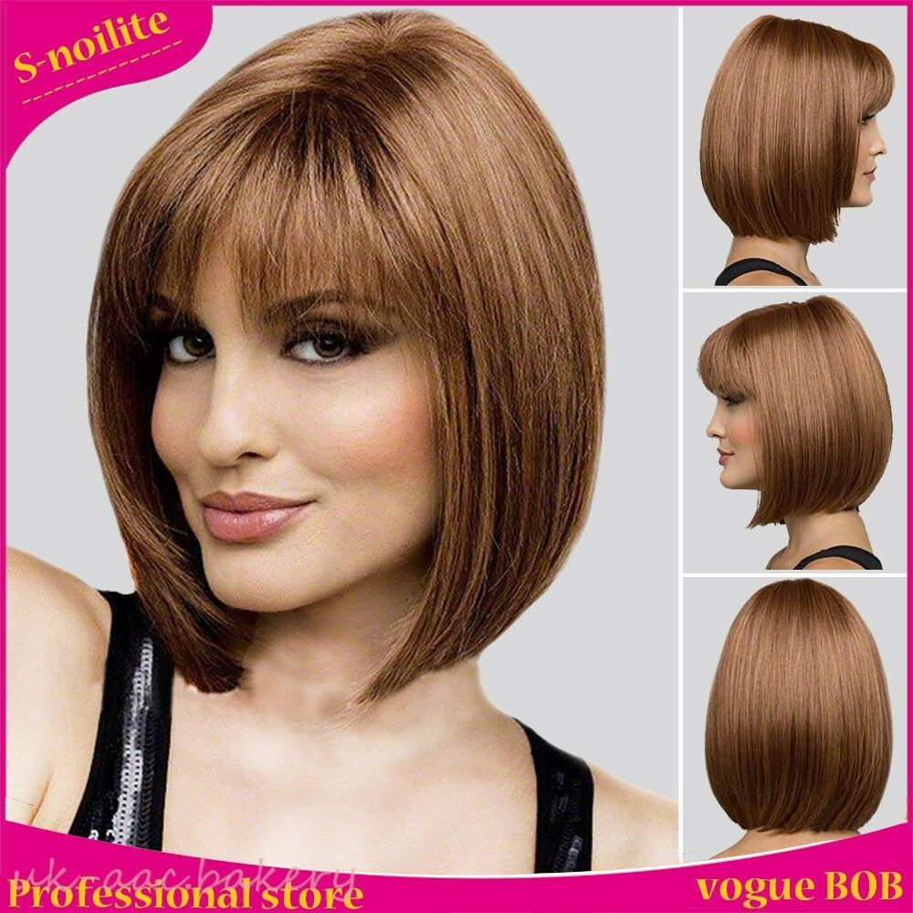 and brown hair style wig black brown classic bob hair 4625