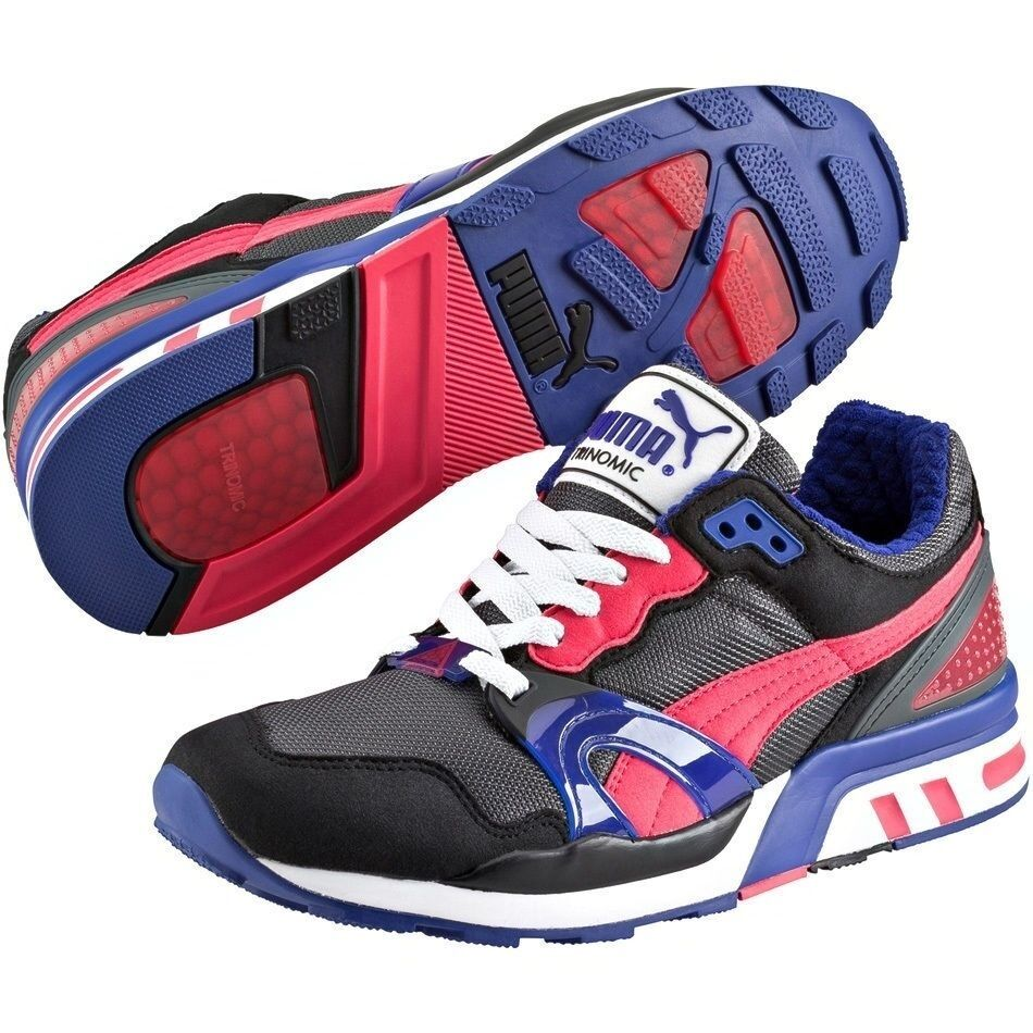 12378ed5866c50 Details about Puma Trinomic XT 2 35586815 Black-Teaberry Red Fashion Men  Running Sneaker Shoes