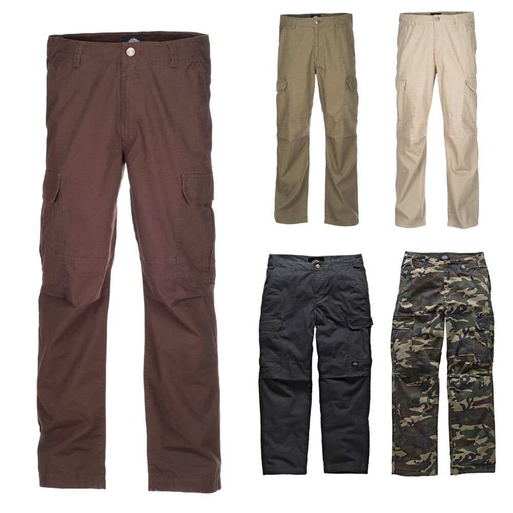dickies new york ripstop cargohose herren freizeit combat hose mehrere farben ebay. Black Bedroom Furniture Sets. Home Design Ideas