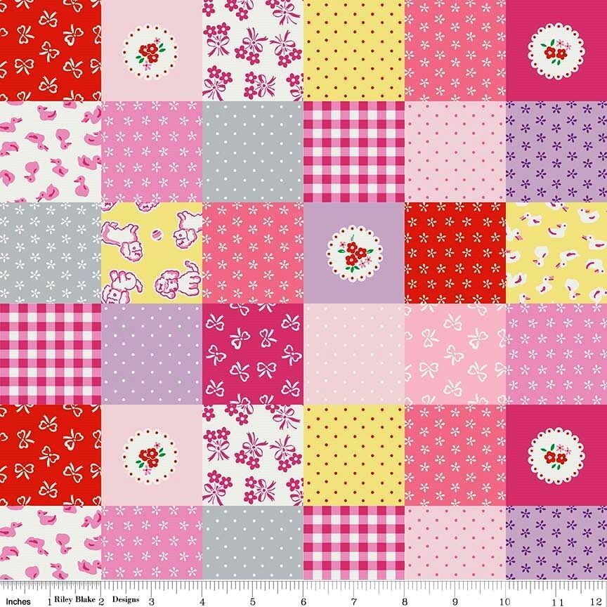Bty penny rose quilting sewing fabric strawberry biscuit for Sewing fabric