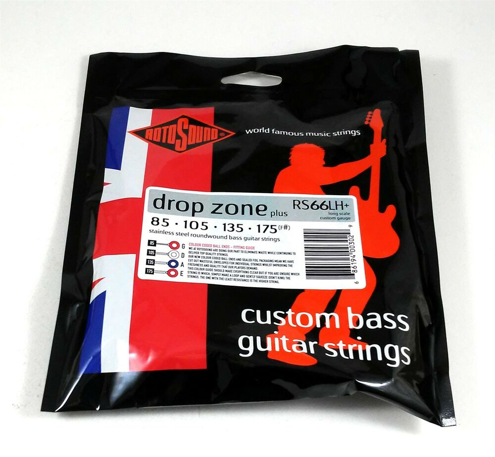rotosound bass guitar string swing bass rs66lh drop zone plus 85 175 f 686194003029 ebay. Black Bedroom Furniture Sets. Home Design Ideas