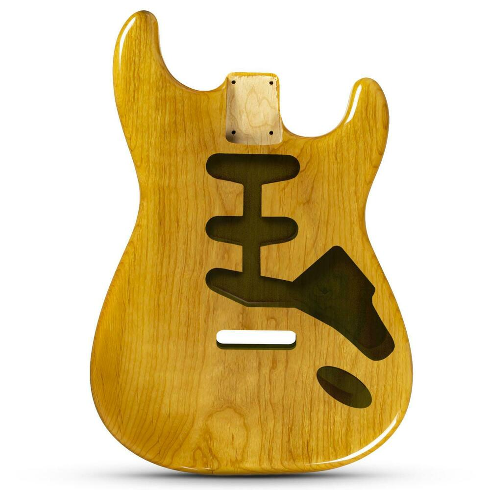 natural gloss finish stratocaster electric guitar body 2 piece american alder ebay. Black Bedroom Furniture Sets. Home Design Ideas