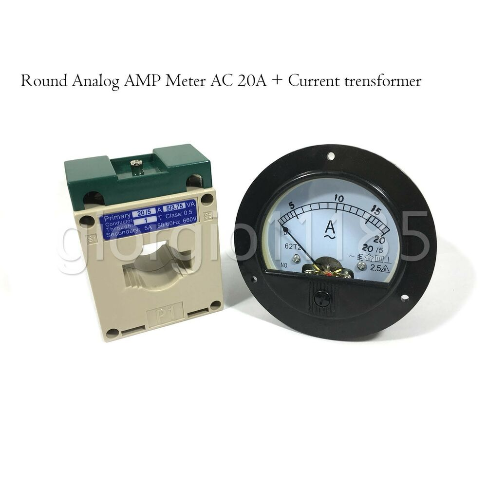 Ac Amp Meter Panel : Us stock ac a analog amp current panel meter ammeter