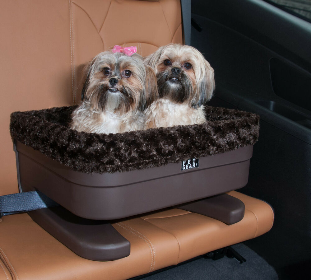 new pet gear dog cat car lookout bucket seat booster chocolate jaguar two sizes ebay. Black Bedroom Furniture Sets. Home Design Ideas