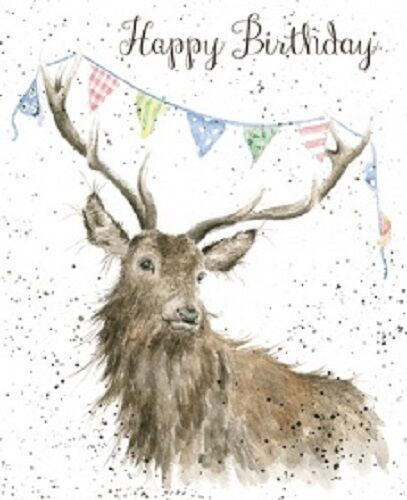 Wrendale Designs Happy Birthday Greeting Card NEW Stag