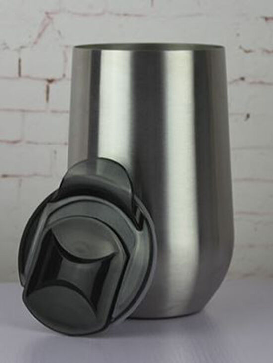Stemless wine glass stainless steel insulated tumbler with lid ebay - Insulated stemless wine glasses ...