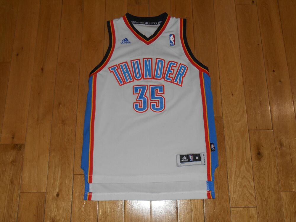 adidas KEVIN DURANT White Oklahoma City Thunder Youth NBA Team Swingman  JERSEY M  7ef5d82a1