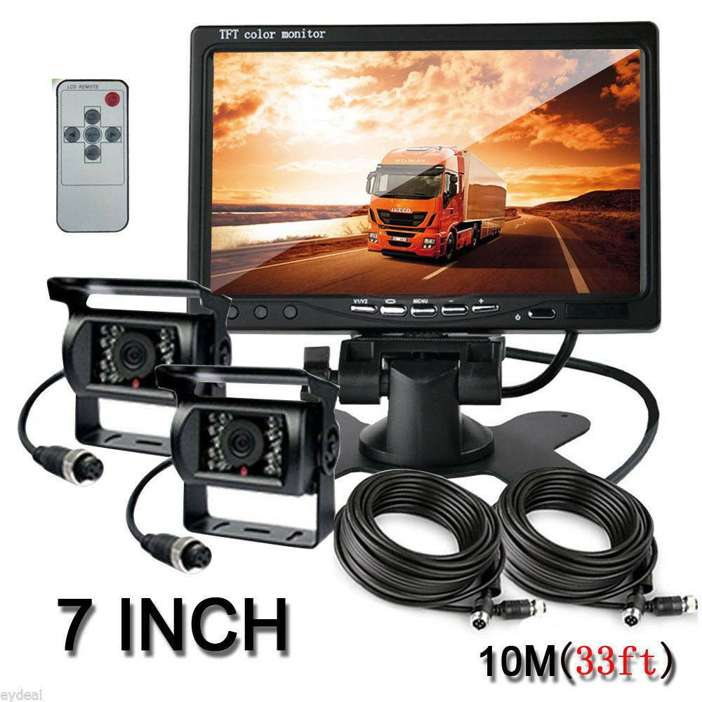 Wired Kit 7 Quot Tft Lcd Monitor Car Rv Reverse Rear View