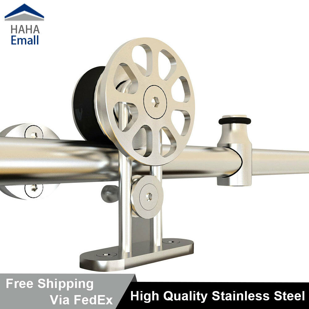 5 16ft Stainless Steel Sliding Barn Door Hardware Flat