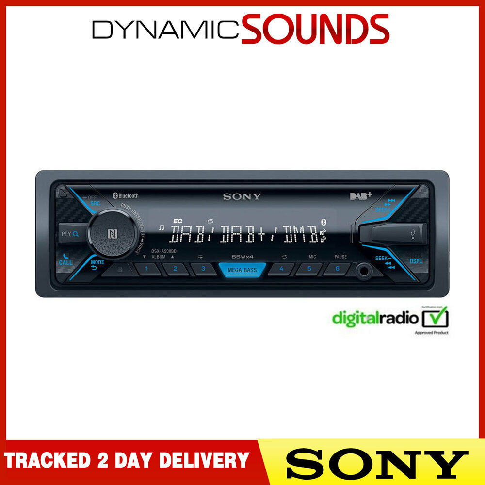 Sony DSX-A500BD Aux USB MP3 Android IPod IPhone Bluetooth